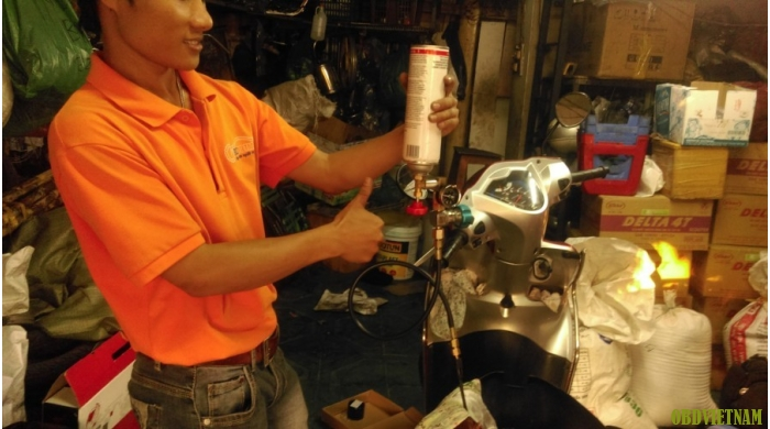 Máy vệ sinh phun xăng  FI Cleaner