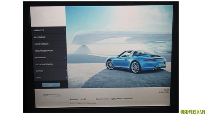 Thiết bị chẩn đoán Piwis Tester II cho Porsche