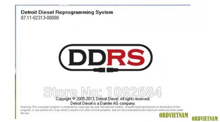 Phần mềm đọc lỗi DDRS NEXIQ 7.11