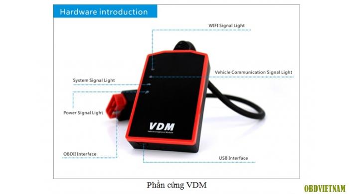 Thiết bị chẩn đoán đa năng UCANDAS VDM V3.8