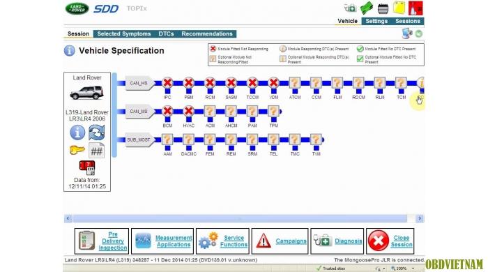 Phần mềm chẩn đoán V139 JLR MANGOOSE