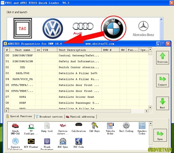Description: FVDI Commander For BMW and MINI FVDI get two gift software